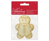Papermania Etched Wooden Shapes Gingerbread (2pcs) (PMA 359939)