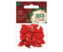 Papermania Deck The Halls Velvet Bows (20pcs) (PMA 367939)