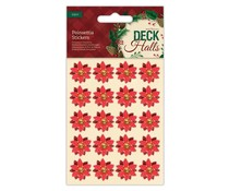 Papermania Deck The Halls Poinsettia Stickers (20pcs) (PMA 804941)