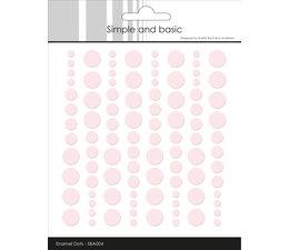 Simple and Basic Adhesive Enamel Dots Baby Rose (96pcs) (SBA004)