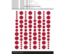 Simple and Basic Adhesive Enamel Dots Chili Red (96pcs) (SBA007)