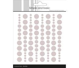 Simple and Basic Adhesive Enamel Dots Baileys Brown (96pcs) (SBA008)