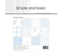 Simple and Basic Pigeon Blue 6x6 Inch Paper Pack (SBP022)