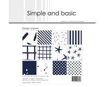 Simple and Basic Dark Blue 6x6 Inch Paper Pack (SBP023)