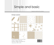 Simple and Basic Baileys Brown 6x6 Inch Paper Pack (SBP024)