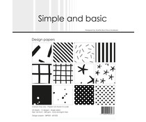 Simple and Basic Jet Black 6x6 Inch Paper Pack (SBP025)