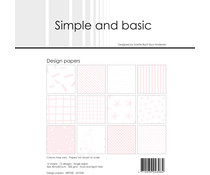 Simple and Basic Baby Rose 12x12 Inch Paper Pack (SBP030)