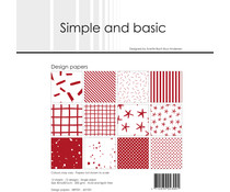 Simple and Basic Chili Red 12x12 Inch Paper Pack (SBP031)