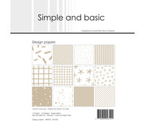 Simple and Basic Baileys Brown 12x12 Inch Paper Pack (SBP034)