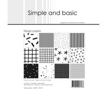 Simple and Basic Jet Black 12x12 Inch Paper Pack (SBP035)