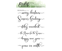 Picket Fence Studios Fancy Christmas Sentiments Clear Stamps (C-114)