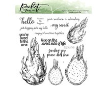 Picket Fence Studios Dragon Fruit Clear Stamps (T-112)