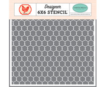 Carta Bella Chicken Wire 6x6 Inch Stencil (CBFT127033)