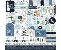 Carta Bella Winter Market 12x12 Inch Element Sticker (CBWM126014)