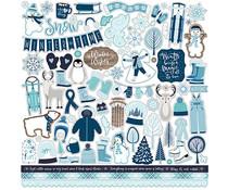 Echo Park Winter Magic 12x12 Inch Element Sticker (WIM223014)