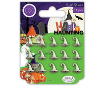 Craft Consortium Happy Haunting Metal Charms Witches Hat (CCMCHRM017)
