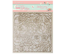 Stamperia Decorative Chips 14x14cm Texture of Roses (SCB35)