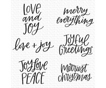 My Favorite Things Mini Merry Messages Clear Stamps (CS-511)