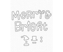 My Favorite Things Merry and Bright with All the Trimmings Die-namics (MFT-1839)