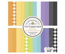 Doodlebug Design Ghost Town 12x12 Inch Petite Print Assortment Pack (7040)