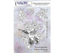 IndigoBlu Hummingbird and Peony A5 Rubber Stamps (IND0704)
