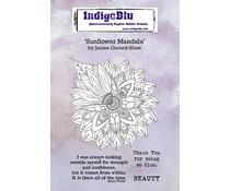 IndigoBlu Sunflower Mandala A6 Rubber Stamps (IND0706)