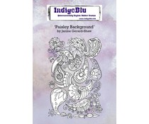 IndigoBlu Paisley Background A6 Rubber Stamps (IND0707)