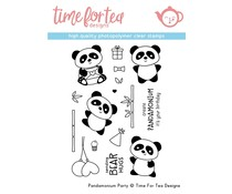 Time For Tea Pandamonium Party Clear Stamps (T4T/290/Pan/Cle)