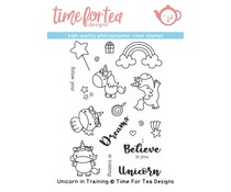 Time For Tea Unicorn In Training Clear Stamps (T4T/313/Uni/Cle)