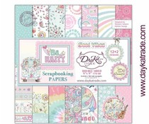 DayKa Trade Be Happy 8x8 Inch Paper Pack (SCP-1032)