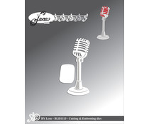 By Lene Microphone Cutting & Embossing Dies (BLD1313_