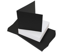 Craft UK Black Cards & White Envelopes 6x6 Inch (CUK2310)