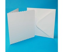 Craft UK Cards & Envelops 8x8 Inch Scalloped White (CUK839)