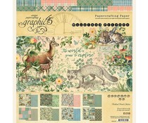 Graphic 45 Woodland Friends 8x8 Pad (4502134)