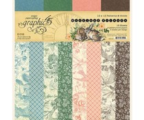 Graphic 45 Woodland Friends 12x12 Patterns & Solids Paper Pad (4502136)