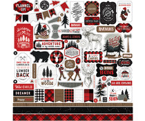 Echo Park Let's Lumberjack Element Sticker (LU225014)