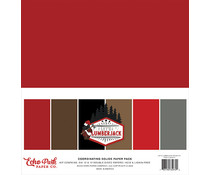 Echo Park Let's Lumberjack 12x12 Inch Coordinating Solids Paper Pack (LU255015)