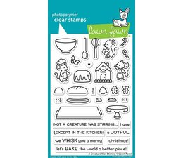 Lawn Fawn A Creature Was Stirring Clear Stamps (LF2415)
