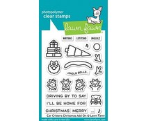 Lawn Fawn Car Critters Christmas Add-On Clear Stamps (LF2423)