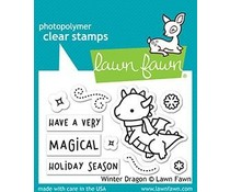 Lawn Fawn Winter Dragon Clear Stamps (LF2425)