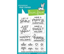 Lawn Fawn Shutter Card Holiday Sayings Clear Stamps (LF2430)