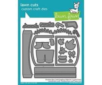 Lawn Fawn Shadow Box Card Fireplace Add-On Dies (LF2437)