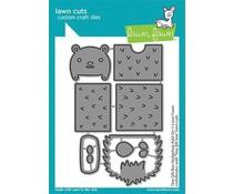 Lawn Fawn Tiny Gift Box Hedgehog Add-On Dies (LF2439)