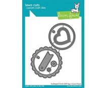 Lawn Fawn Scalloped Circle Gift Tag Dies (LF2453)