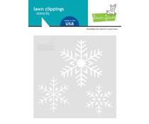 Lawn Fawn Snowflake Trio 6x6 Inch Stencil (LF2460)