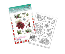 Polkadoodles Merry Christmas Poinsettia Clear Stamps (PD8093A)