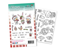 Polkadoodles Christmas Tweetings Clear Stamps (PD8094A)