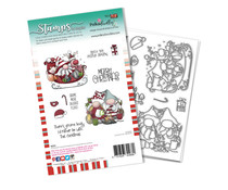 Polkadoodles Sleigh the Season Clear Stamps (PD8098A)