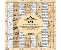 Paper Favourites Handwritten Music 6x6 Inch Paper Pack (PF152)