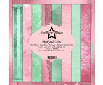 Paper Favourites Pink and Mint 12x12 Inch Paper Pack (PF351)